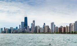 Opinião norte da skyline de Chicago Imagens de Stock