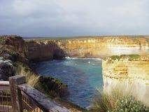 Opinião nos doze apóstolos, Austrália do penhasco fotos de stock