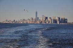 Opinião nova do navio, Manhattan do centro de Jork Fotos de Stock