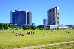 Opinião nova dos arranha-céus da cidade de Vilnius o 6 de junho de 2015 Imagem de Stock Royalty Free
