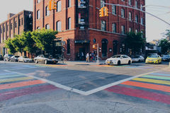 Opinião NYC da rua Imagens de Stock Royalty Free