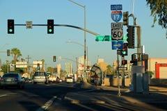 Opinião o Arizona de um estado a outro sul 17 da rua da arquitetura da cidade Foto de Stock Royalty Free
