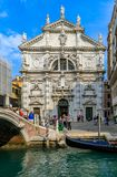Opinião o Chiesa icônico di San Moise, um estilo barroco, C romano imagens de stock royalty free