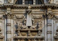 Opinião o Chiesa icônico di San Moise, um estilo barroco, C romano foto de stock royalty free
