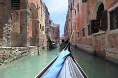 Opinião o Fondamenta Vin Castello, Veneza (Itália) Imagens de Stock