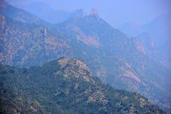 Opinião ocidental de Ghats dos montes de Meghamalai no Tamil Nadu fotos de stock royalty free
