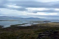 Opinião ocidental dos fiordes em Islândia Fotos de Stock