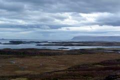 Opinião ocidental dos fiordes em Islândia Foto de Stock