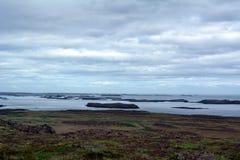 Opinião ocidental dos fiordes em Islândia Fotografia de Stock