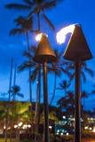 Opinião ocupada da cidade de Kailua Kona com bokeh Imagens de Stock Royalty Free