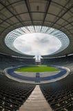 Opinião Olympia Stadium de uma Berlim vazia, Berlim Fotografia de Stock Royalty Free