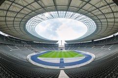 Opinião Olympia Stadium de uma Berlim vazia, Berlim Fotos de Stock Royalty Free