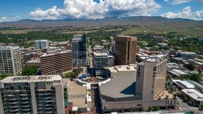 Opinião original Boise Idaho do centro com o centro no bosque Imagens de Stock