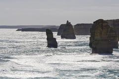 Opinião os 12 apóstolos na grande estrada do oceano, Melbo Foto de Stock Royalty Free