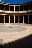 Opinião Palacio de Carlos V no Alhambra Fotografia de Stock