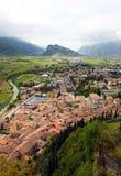 Opinião panorâmico Arco e Riva del Garda, Italy Imagem de Stock Royalty Free