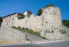 Opinião panorâmico Castiglione del Lago. Úmbria. Fotografia de Stock Royalty Free