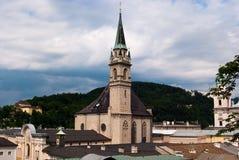 Opinião panorâmico da igreja de Salzburg Imagens de Stock