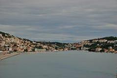 Opinião panorâmico da margem de Dubrovnik, Croácia imagem de stock royalty free