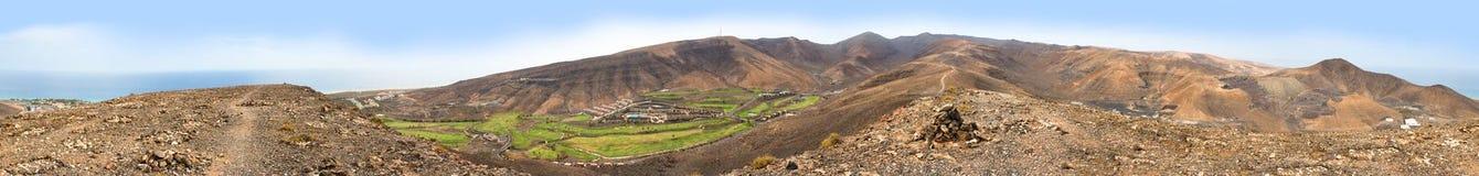 opinião panorâmico da paisagem 360 de Morro Jable Imagens de Stock