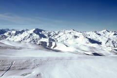 Opinião panorâmico de Alpes Imagem de Stock Royalty Free