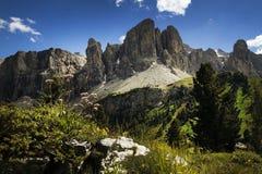 Opinião panorâmico de Alpes Fotografia de Stock