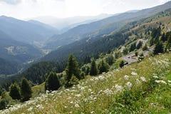 Opinião panorâmico de Alpes Foto de Stock