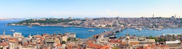 Opinião panorâmico de Istambul imagens de stock royalty free