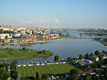 Opinião panorâmico de Istambul Foto de Stock Royalty Free