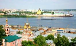 Opinião panorâmico de julho de Nizhny Novgorod Fotos de Stock Royalty Free