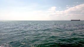 Opinião panorâmico do verão do litoral, Tessalónica Grécia video estoque