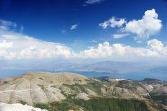 Opinião Pantokrator de Corfu fotos de stock royalty free