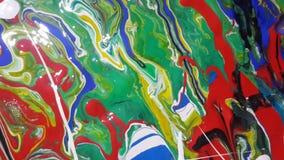 Opinião parcial da pintura abstrata fotos de stock