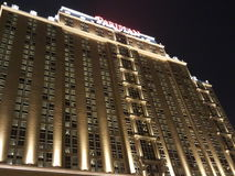 Opinião parisiense da noite do hotel Imagens de Stock