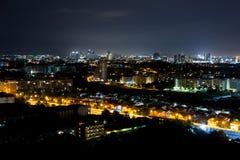 A opinião Pattaya da noite jomtien Tailândia Fotos de Stock Royalty Free