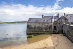 Opinião perto do porto, Escócia de Lerwick Fotografia de Stock Royalty Free