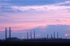 Opinião petroquímica da indústria fotos de stock