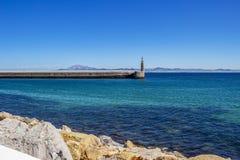 Opinião Punta del Santo Espanha em Tarifa, a Andaluzia fotografia de stock royalty free