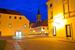 Opinião quadrada barroco da noite de Varazdin Imagens de Stock