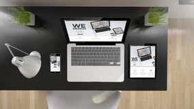 opinião que superior do escritório preto nós projetamos Imagem de Stock