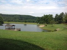 Opinião quieta do lago Foto de Stock