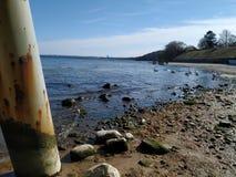 Opinião real de Gdynia de seu mar fotografia de stock