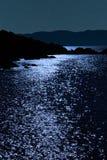 Opinião rochosa tranquilo de noite estrelado do Kerry Imagem de Stock