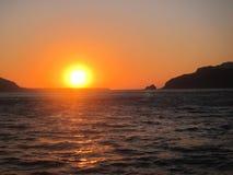 Opinião romântica de Santorini Foto de Stock Royalty Free