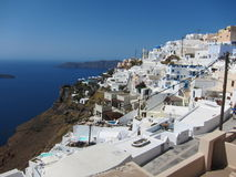 Opinião romântica de Santorini Imagens de Stock