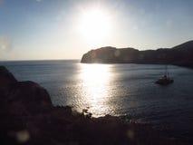 Opinião romântica de Santorini Fotografia de Stock