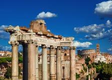 Opinião romana do fórum imagens de stock