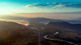 Opinião rural aérea da paisagem filme