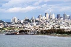Opinião San Fransisco de golden gate bridge Fotografia de Stock