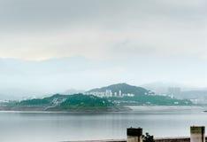 Opinião Sandouping da cidade em China Foto de Stock Royalty Free